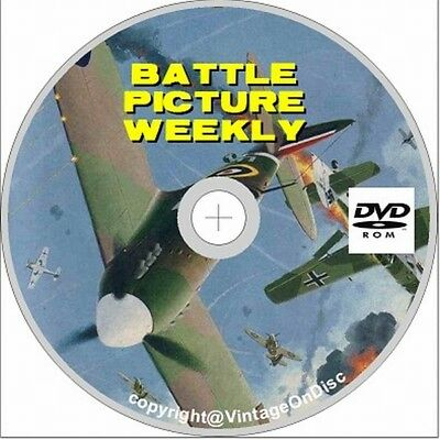 Battle Picture Weekly & Valiant Comic on dvd rom, Issues 400+, Free P+P