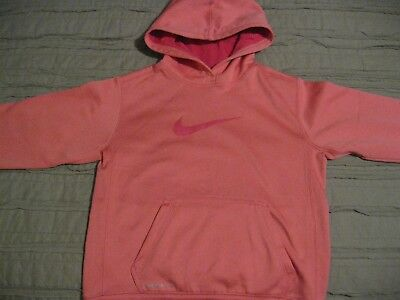 Nike Therma-fit hoodie hooded sweatshirt  size girls med. GUC