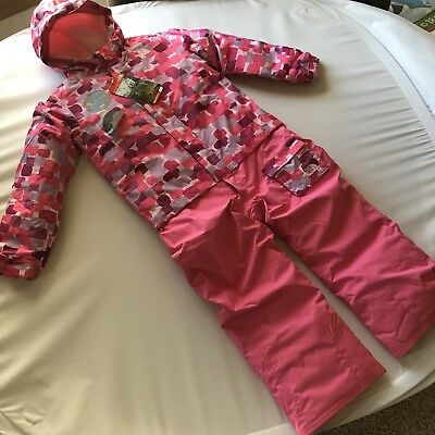 North Face Girls Toddler Snowsuit Pink Jumpsuit Snowpants Jacket Coat 5T Small S
