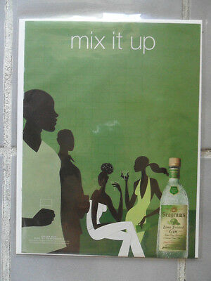 2002 Print Ad Seagram's Gin ~ MIX IT UP Black Afro-American Pop Art Series