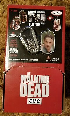 Amc The Walking Dead Season 6 Dog Tags Empty Display Box With Rick Tag On Front