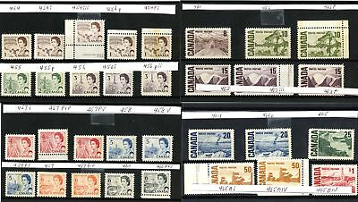 Lot 66525 Canada  Mint Nh Canadian Centennial Stamp Collection With Varieties