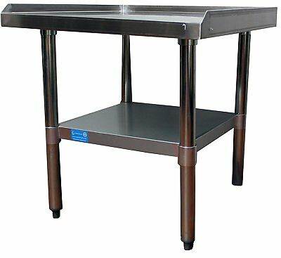 """30"""" x 30"""" Stainless Steel Equipment Stand with Undershelf - Commercial Grade NSF"""