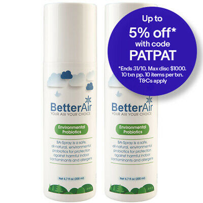 2x BetterAir 200ml Environmental Probiotics Spray Air Purifying/Cleaning/Cleaner