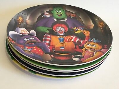 McDonalds Collector Plastic Dinner Plates  Ronald, Grimace, Nuggets, 2001-'04