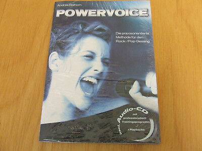 Powervoice Andres Balhorn incl. Audio CD Methode für Rock-/Pop-Gesang