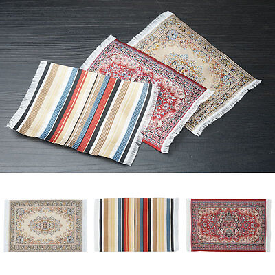 New Dolls House Small Turkish Woven Fireside Rug Carpet Miniature 1:12Accessory