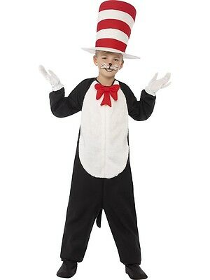 Boys / Girls Dr Seuss Cat In The Hat Costume Book Week Age 4-12