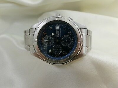 Citizen WR100 Chronograph HAU Herrenuhr Quartz Stahl 38,5 mm