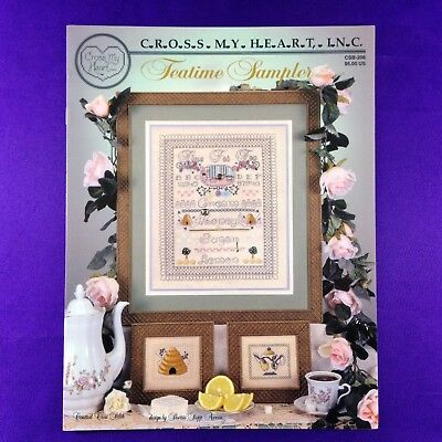 "Vintage Cross Stitch Booklet Chart ""Teatime Sampler"" by Cross My Heart Inc."
