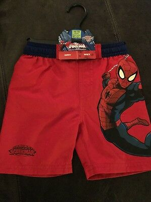 M&S Marks And Spencer Baby Boy Toddler Swim Shorts Spider-Man Superhero 12-18 M