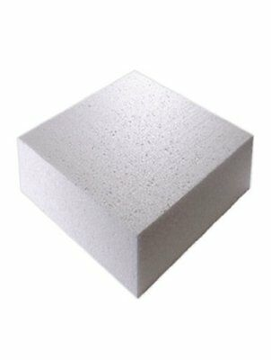 "12"" Inch SQUARE Cake Polystyrene Dummy 4"" INCH DEEP"