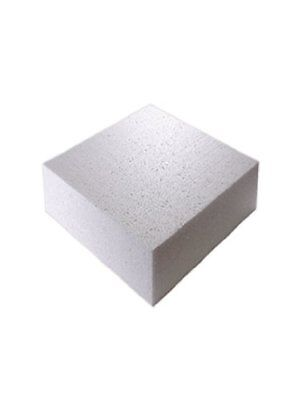 "6"" Inch SQUARE Cake Polystyrene Dummy 4"" INCH DEEP"