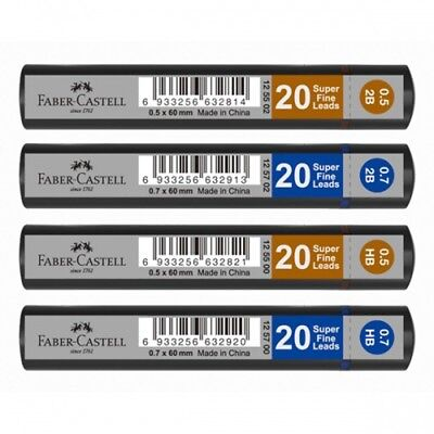 FABER-CASTELL SUPER FINE MECHANICAL PENCIL LEADS - Choice of Lead Size and Grade