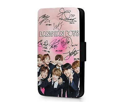 Bangtan Boys BTS Kpop Band Wings Army Faux Leather Phone Flip Case Cover Wallet
