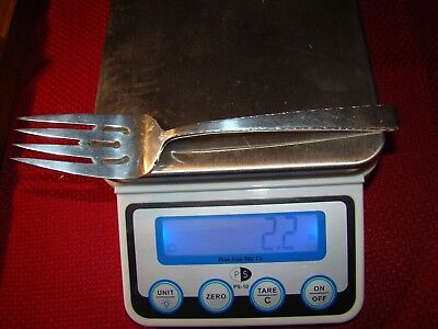 Towle Sterling Silver Old Lace Cold Meat Fork No Monogram