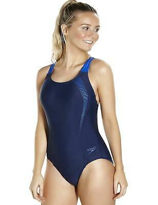 Speedo Sports Logo Medalist Racerback Swimsuit 809689A138 Navy/Blue