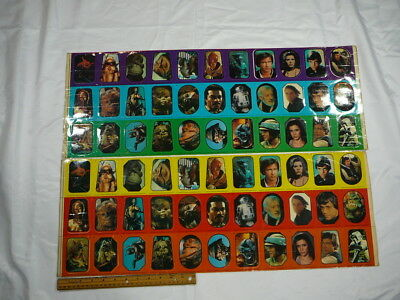 Star Wars Prototype Proof Sheet Topps Uncut Sticker 1983 Series Rare Vintage