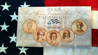 2009 First Spouse Bronze Medal Series Five-Medal Set