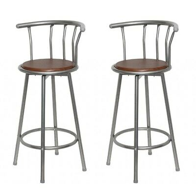 2 Seat Bar Stools Dining Chair Cast Iron Metal