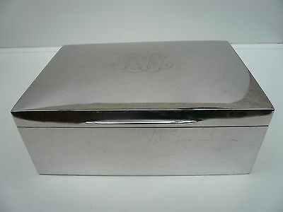 Silver Cigar Humidor Box, Sterling, Antique, Henley Sailing Club, 1902