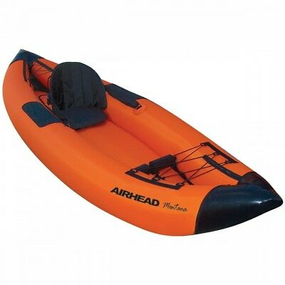 Airhead Montana 1 Paddler Performance Travel Kayak Black/Orange