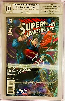 Superman Unchained 1 3D PGX 10.0 SS WP Lenticular 75th (not CGC CBCS 9.8 9.9)SEE