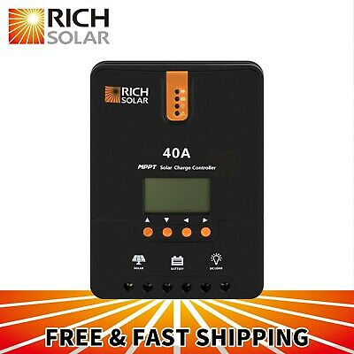 RICH SOLAR 40A 12V/24V DC MPPT Solar Charge Controller for Battery Regulator
