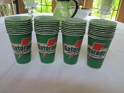A Lot Of 34 New Vintage Gatorade Wax Paper Cups
