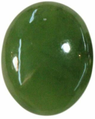 Natural Extra Fine Rich Green Nephrite Jade - Oval Cabochon - New Zealand - AAA+
