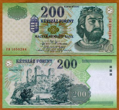 Hungary, 200 Forint, 2004, P-187 (187d) UNC