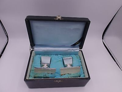Japan silver 950 hallmarked 2 Candlesticks in Box  K. Uyeda Silber