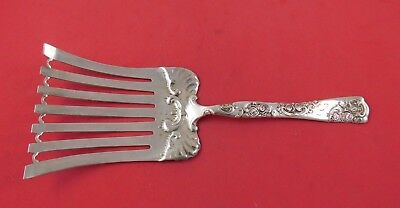 """Rose and Scroll by Whiting Sterling Silver Asparagus Fork 10"""""""