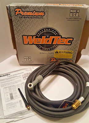 WeldTec 25' Cable TIG WELDING TORCH AIR COOLED WT-17V-25R WELD TEC WELDERS TOOLS