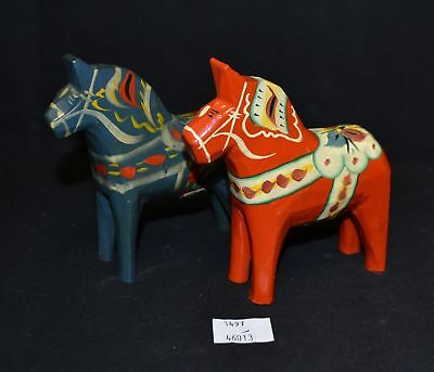 ThriftCHI ~ Sweden Souvenir Hand Painted Wooden Horses Nils & Tilly Olsson Akta