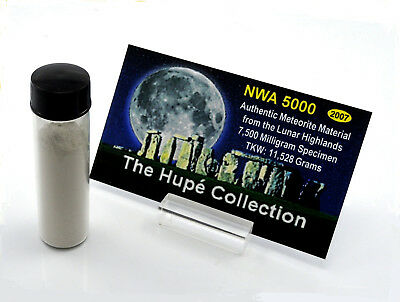 🌙 Legendary NWA 5000 Lunar Meteorite Moon Rock 7.50 Grams Pure Dust !