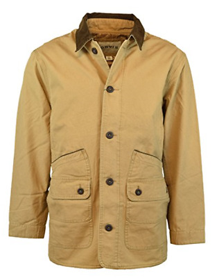 NWT ORVIS Mens Quilted lining Multi Pocket Barn Jacket Coat Saddle Kahki Color M