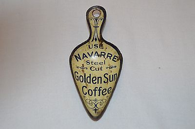 Vintage Metal  Navarre Golden Sun Coffee Litho Advertising Scope (97)