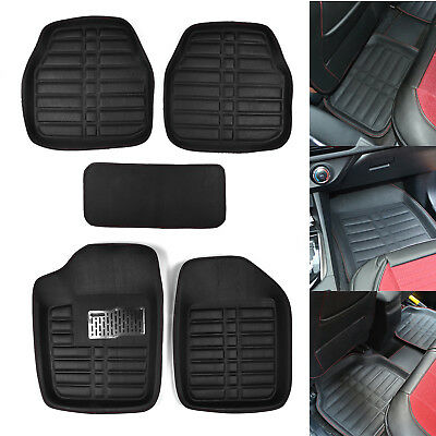 5xUniversal Auto Car Floor Mats FloorLiner Front&Rear Carpet All Weather Pad Set