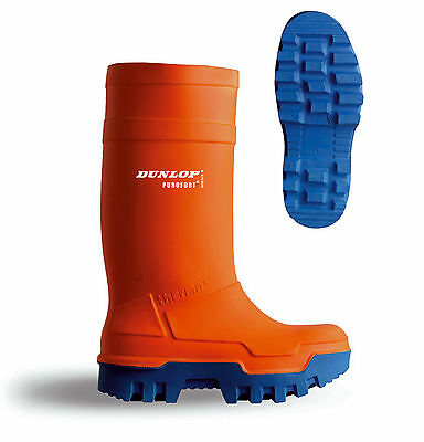 B-Dri Dunlop Purofort Thermo To -50°C Full Safety Wellington Orange - C662343