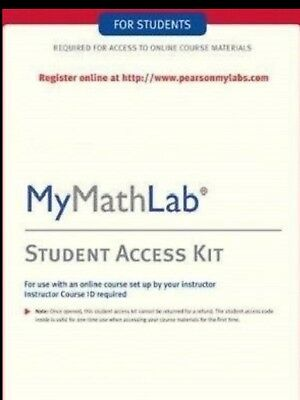 MyMathLab Student Access CODE Pearson NEW FAST eMail delivery READ DESCRIPTION