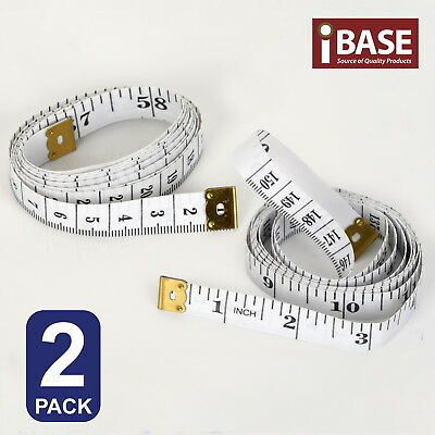 "2x Soft Ruler 1.5M CM 60"" Inch Measure Tape Tailor Body Measuring Sew Flexible"