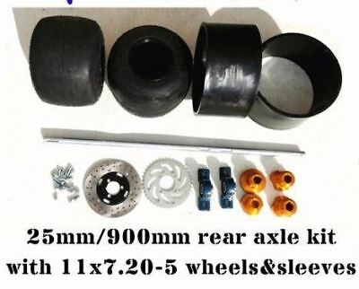 Huffy Slider Drift Trike Go Kart 25mm 900mm Complete Axle 11x7.10-5 wheel sleeve