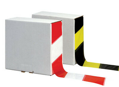 70mm x 500m x 30mu Non Adhesive Polythene Barrier Safety Tape