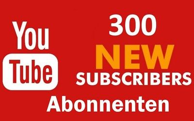 300+ Youtube Subs. / Abonnenten / Channel / Kanal Promotion