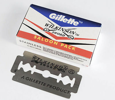 50 pc Gillette Wilkinson Sward Double Edge Safety Razor Blade Saloon Pack