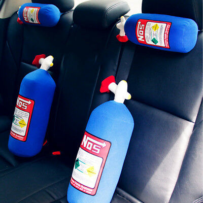 NOS Nitrous Oxide Bottle Tank Pillow Plush Cushion Gift Car Headrest Backrest
