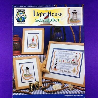 "Vintage Cross Stitch Booklet Chart ""Light House Sampler"" by True Colors"