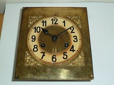 German wall clock movement c1930 with sleigh and brass dial - for spares