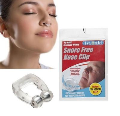Anti snore free nose clip stop snoring sleep and magnetic